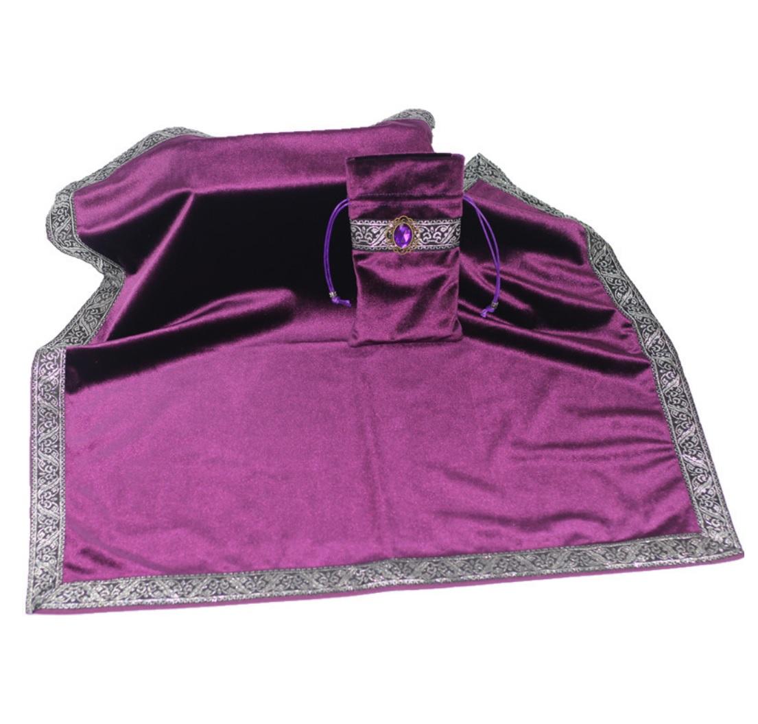 Khăn & Túi Tarot Art Nouveau Dark Violet (Tím) 15