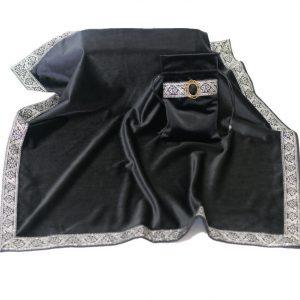 Khăn & Túi Tarot Art Nouveau Onyx Black (Đen) 12
