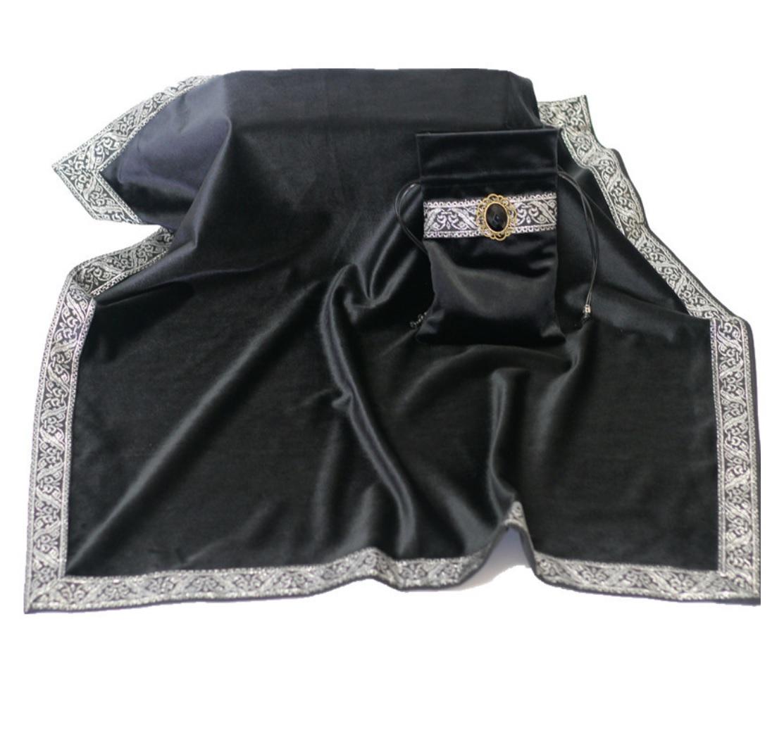 Khăn & Túi Tarot Art Nouveau Onyx Black (Đen) 11