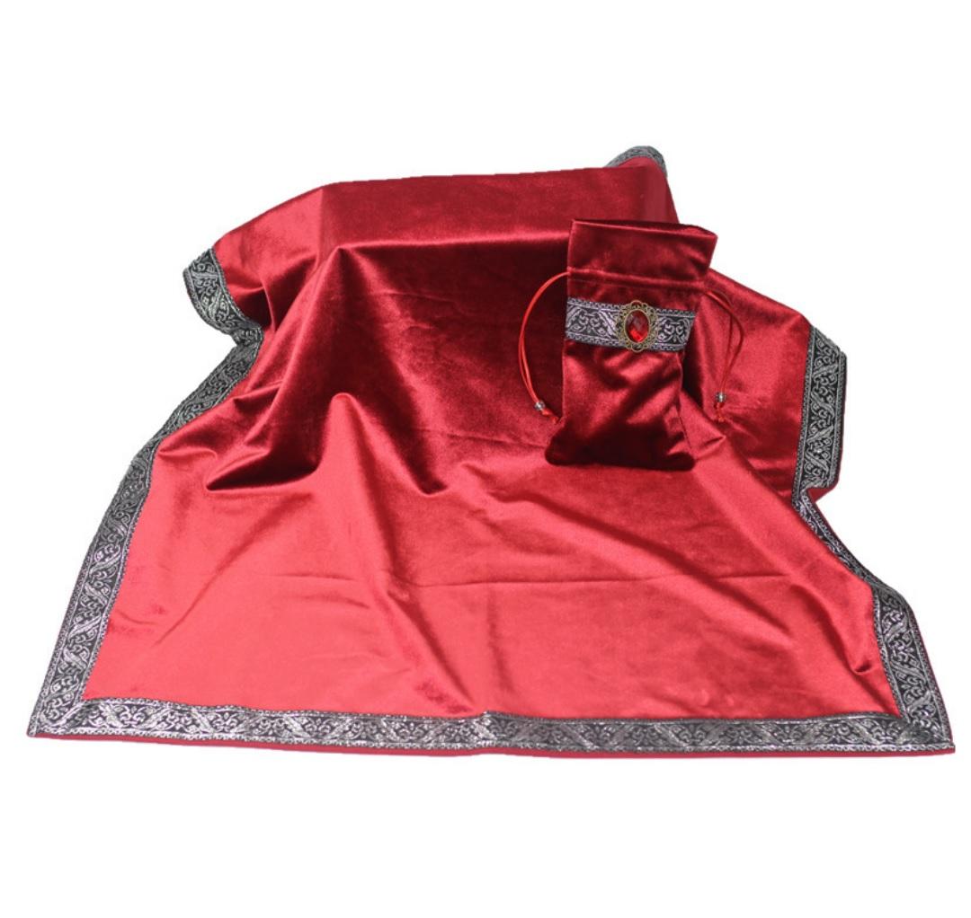 Khăn & Túi Tarot Art Nouveau Scarlet Red (Đỏ) 3