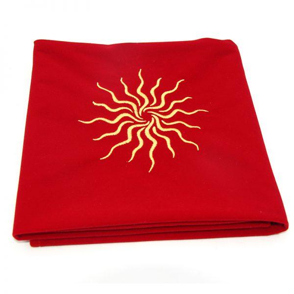 Khăn trải nhung thêu biểu tượng (Sun Red, Triquetra Purple, Pentacle Black) 60×60 290k (6)