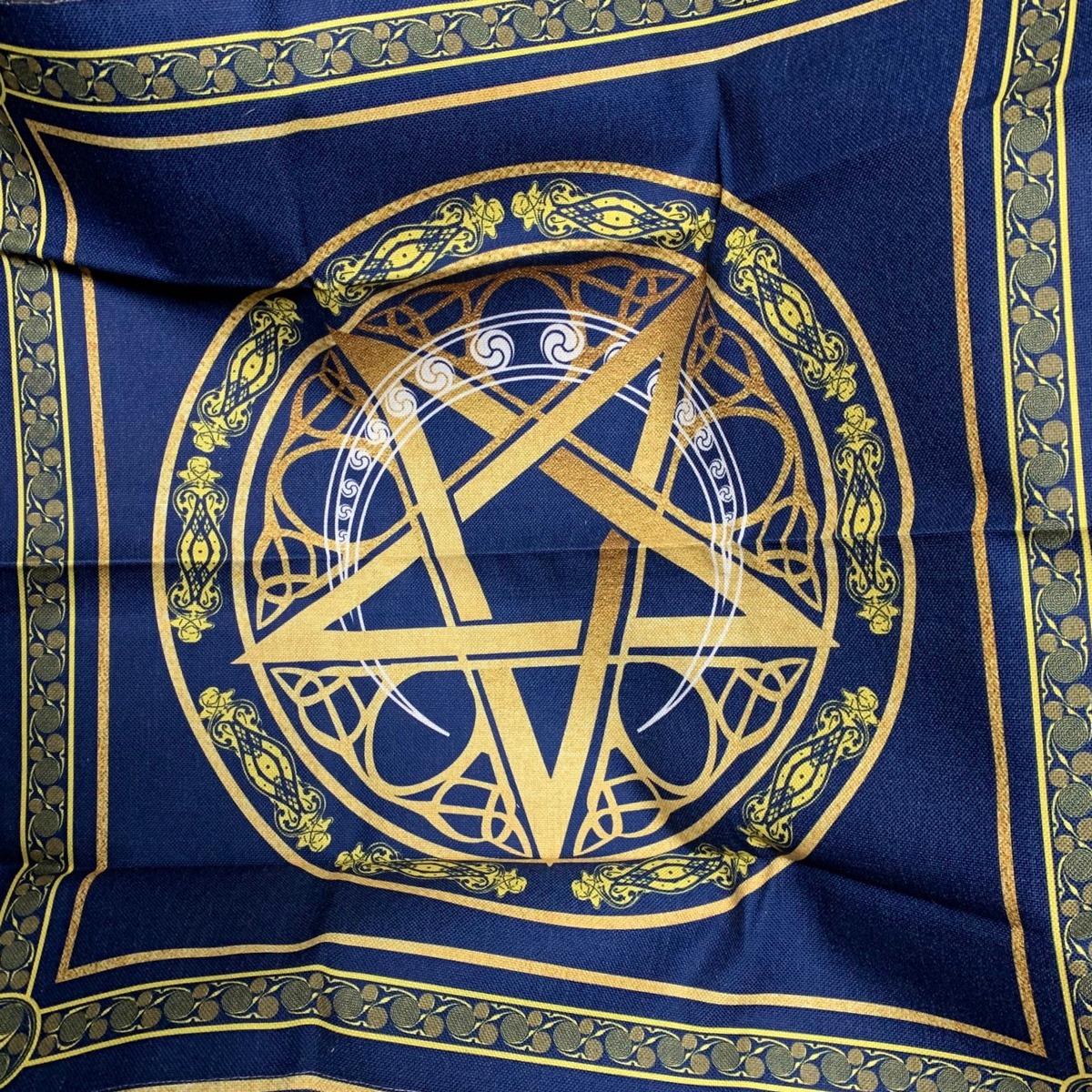 Khăn Trải Bài Tarot Wicca Star Crescent 8