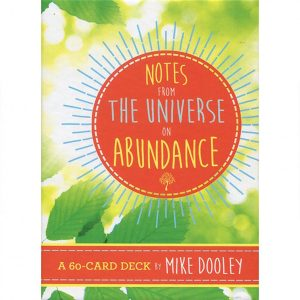 Notes from the Universe on Abundance Cards 8