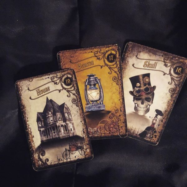 Steampunk Tea Leaf Fortune Telling Cards 9