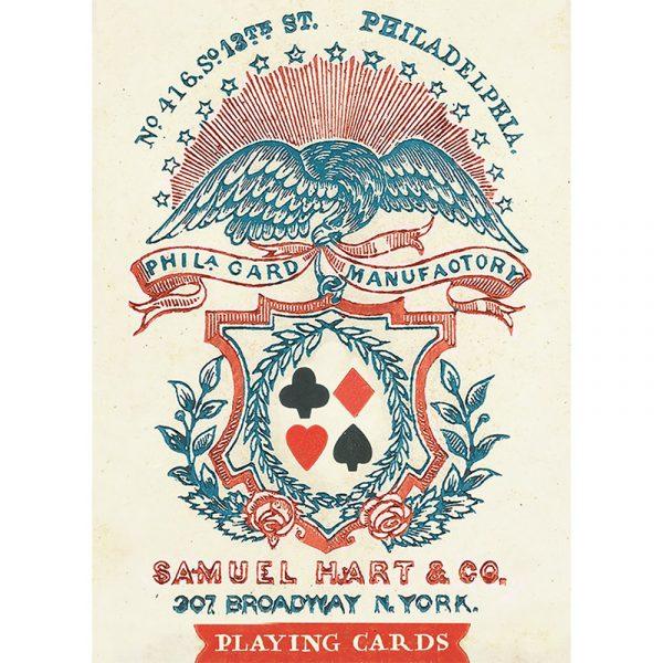 1858 Samuel Hart Poker Deck 1