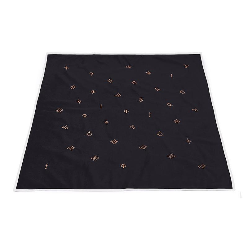Khăn Trải Bài Tarot Horoscope Obsidian (Kèm Túi Đựng) 1