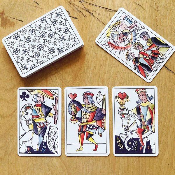 Playing Marseille Tarot 18