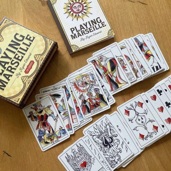 Playing Marseille Tarot 19