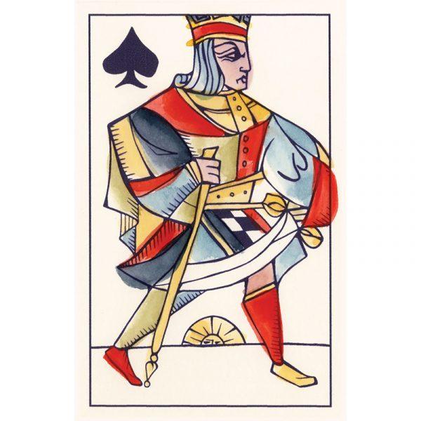 Playing Marseille Tarot 9