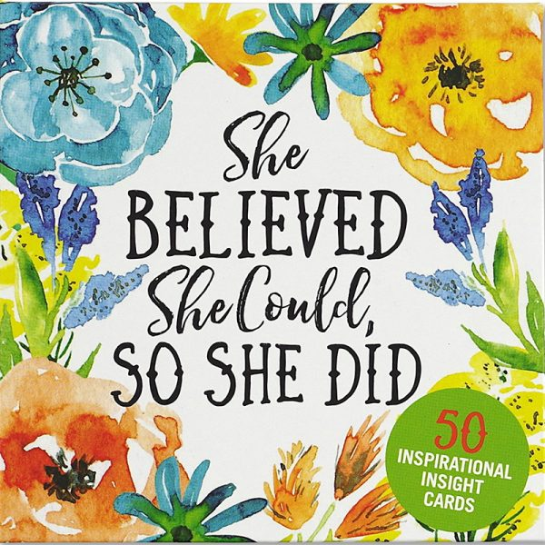 She Believed She Could So She Did Insight Cards 1