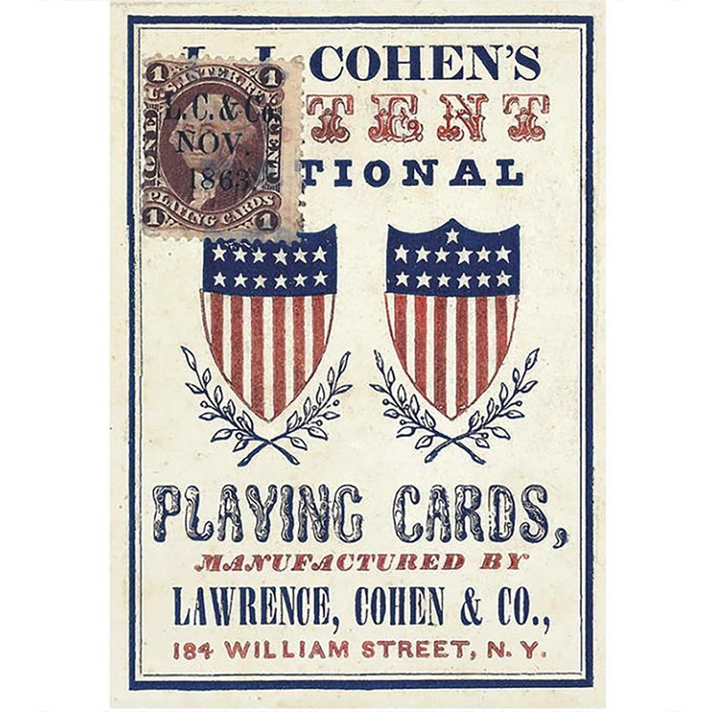 1863 Patent National Poker Deck 3